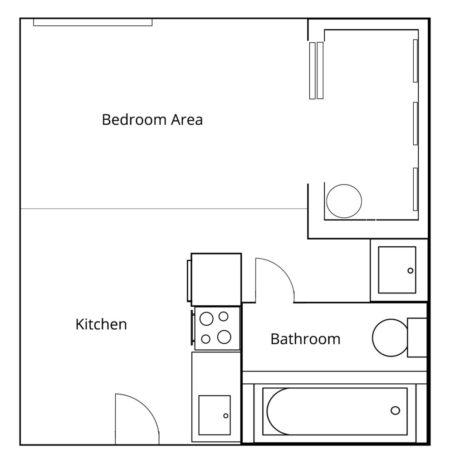 Royal Stuido Floor Plan
